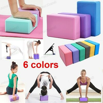 2Pcs Body Health Pilates Yoga Block Foaming Brick Exercise Stretching 5 Colors