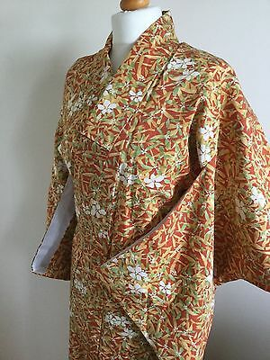 SALE-Vintage Gorgeous Japanese Silk Kimono Royal Lovery (S) #63