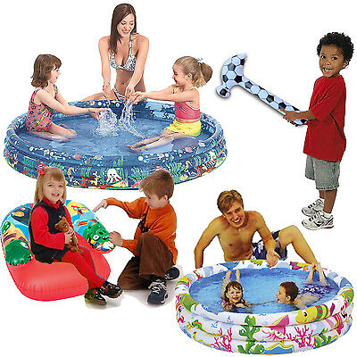 Kids Childs Inflatable Toys Paddling Swimming Pools Children 3 Ring Sea World