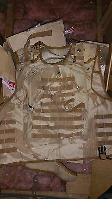 British Army Surplus Osprey Mk2 Body Combat Body Armour Vest Only Desert (2)