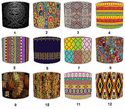 Aztec Tribal Lampshades Ideal To Match Aztec Mexican Tribal Wall Decals Stickers