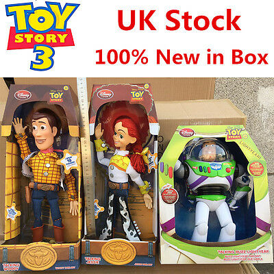 "WOODY Toy Story 3 Pull String JESSIE 15"" Talking Action Figure Doll Kids Toys UK"
