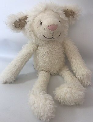 Mothercare white cream Lucy Lamb sheep comforter baby soft toy cuddly plush