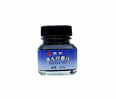From Japan Black Ink for Manga Anime 30ml