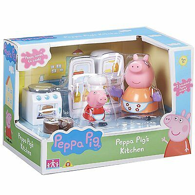 Character Options Peppa Pig's Kitchen playset Inc 2 figures Age 3+