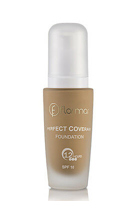 FLORMAR  PERFECT COVERAGE FOUNDATION Shade 108 - Honey