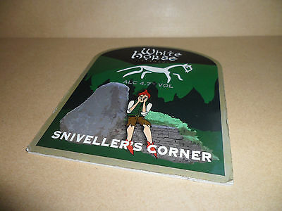 White Horse Brewery Snivellers Corner Ale Beer Pump Clip Bar Collectible