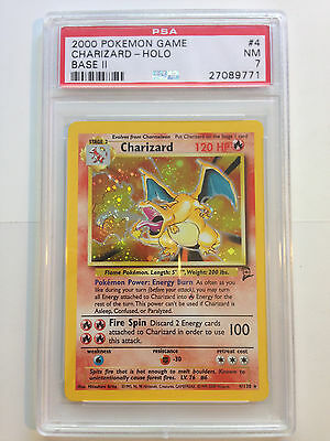 Base Set 2 Charizard 4/130 PSA Near Mint Pokemon Card