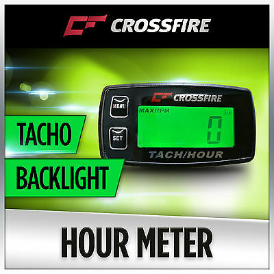 Hour Meter Tachometer (Backlight Replaceable Battery) Motorcycle Motorbike