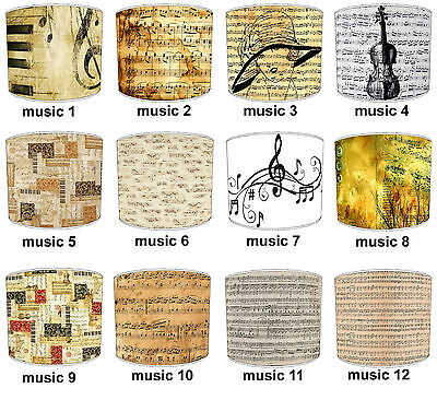 Lampshades Ideal To Match Vintage Piano Music Sheet Musical Notes Cushion Covers