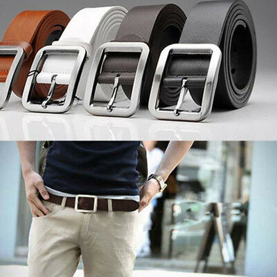 2017 Fashion Men's Luxury Casual Leather Belts Alloy Buckle Waist Strap Belts