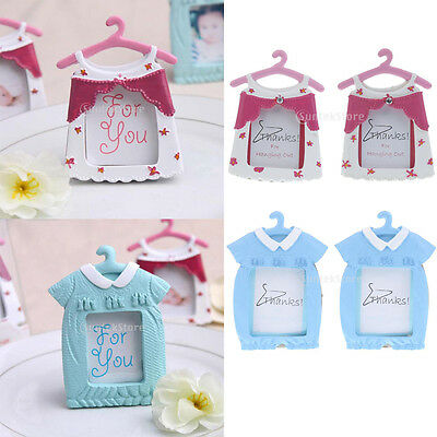 2pcs Baby Girl Boy New Born Photo Frame Resin Picture Frame Baby Shower Favors