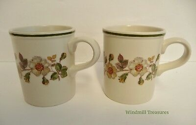 Pair Of Marks & Spencer 'Autumn Leaves' Mugs - Fab Condition