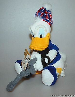 "Disney Store 9"" DONALD DUCK GOLFER Soft Toy NWT - Mint"