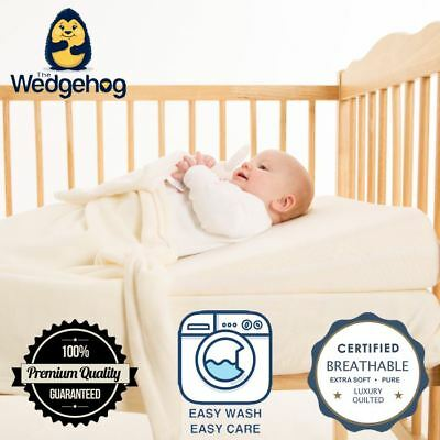 Quilted Wedgehog Deluxe - 60cm Cot Reflux Wedge - with Free Bundled eBook