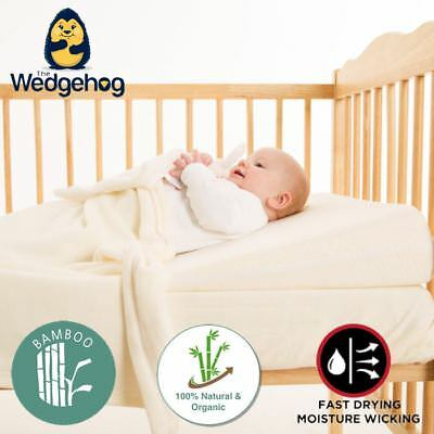 Bamboo Wedgehog® Deluxe - 70cm Cot Bed Reflux Wedge - with Free Bundled eBook