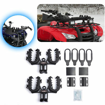 Rhino Double Grip Gun Rack ATV Mount Rifle Shotgun Holder Bows shovels Pole UTV