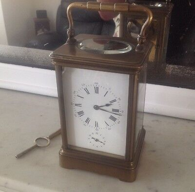Beautiful French carriage clock with alarm c1900