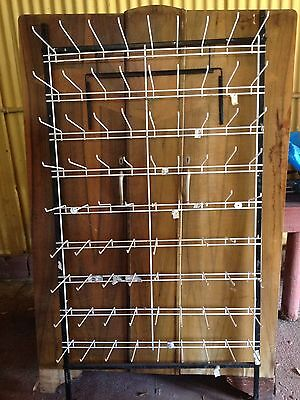 shop fitting wall mounted hook metal display rack 81 hooks