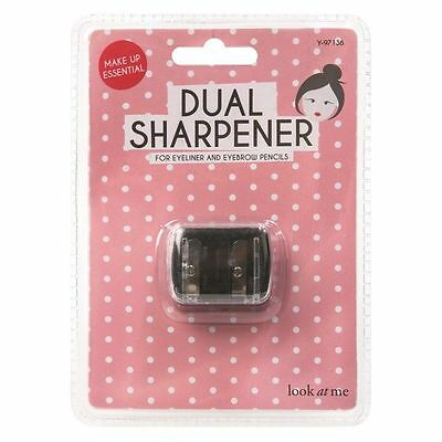 Cosmetics Dual Double Pencil Eyeliner Make Up Sharpener **free Delivery** *uk*