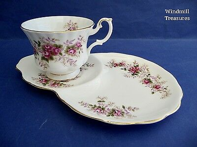 Royal Albert 'Lavender Rose' Bone China Tea Cup And Snack Plate  - Fab Condition