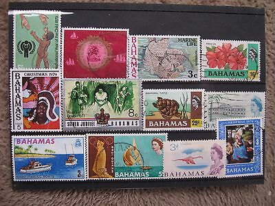 SELECTION OF STAMPS OF BAHAMAS, FINE USED  CARD 1,    ONLY £0.99p