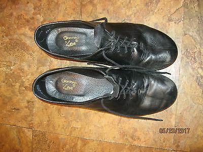 Leo's Black Leather ULTRATONE Lace Up GIORDANO TAP SHOES~Women's 9.5