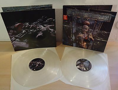IRON MAIDEN : THE X FACTOR     -     1995  2LP  UK  (Clear Vinyl) with POSTER