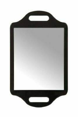 Professional Hairdressing Beauty Salon Mirror with Twin Handle, Black