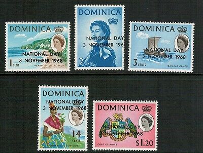 Lot 2822 - Dominica – 1968 National Day set of 5 mint never hinged stamps
