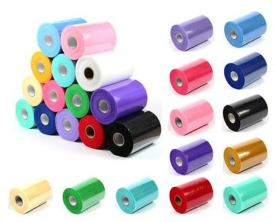 "TUTU TULLE ROLL - 6"" Wide x 25/100yrds - Craft Fabric Soft 100% Nylon Netting"