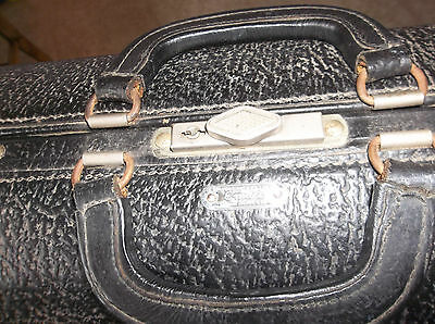 Antique Vintage Schell Emdee Doctor's Bag  Black Leather--Old but ROCK SOLID