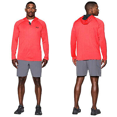 Under Armour Mens Tech Popover Henley Hoodie - New Ua Training Shirt Top 2017