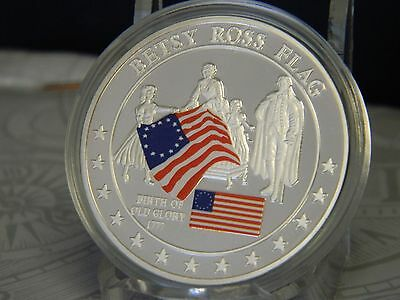 History Of Old Glory Token Coin Proof By American Mint W/coa #04072