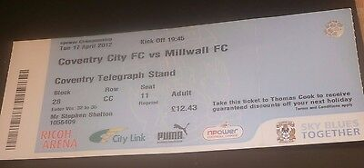 Coventry City v Millwall 17th April 2012 Football League Match Ticket