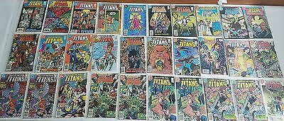 Tales Of The Teen Titans #42-91 Copper Age Comic Book Partial Lot Run, Avg Nm-