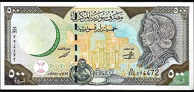 SYRIA 500 POUNDS 1998 UNC WITH MAP P 110b RADAR 274472