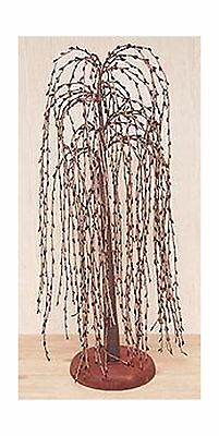 Burgundy Pip Berry Weeping Willow Tree Country Primitive Floral Dcor