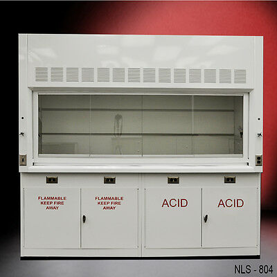 Chemical 8' Laboratory Fume Hood NEW W/ FLAMMABLE & ACID CABINETS NEW