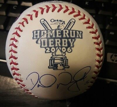 2006 David Wright Signed Game Used All Star Game HOME RUN DERBY Baseball MLB COA
