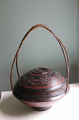 Antique Chinese Wooden Wedding Basket