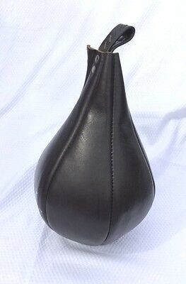 Speed Rotating Ball Pure Leather Boxing 16 inches Punching Speed Pear Ball MMA
