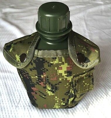 CANTEEN KIT WITH COVER MILITARY OLIVE CAMPING HIKING OUTDOOR (Canadian digital)