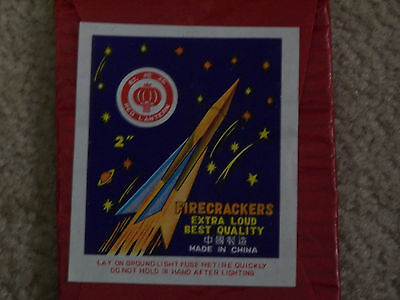 Vintage Red Lantern Brand Firecracker Label