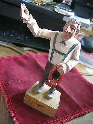 "Hand Carved 5 1/2""  DENTIST'S PATIENT w/ Toothache AFTER ""Befrelt!"" Delivered!"