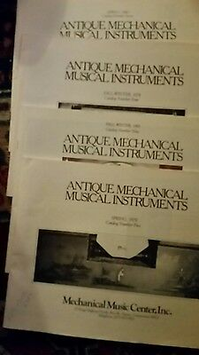 4 Antique Mechanical Musical Instruments Catalogs fall winter '78&'81,sprg 79&80
