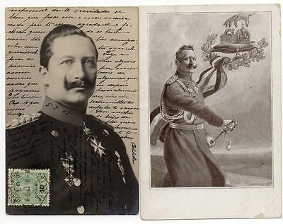 Two Early  GERMAN KAISER WILHELM II    Postcards B