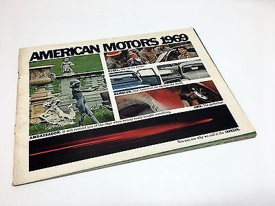 1969 American Motors AMC Rambler Rebel Ambassador Javelin AMX Brochure USA