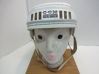 Old Vintage White CCM PRO-GARD Hockey Hurling Helmet