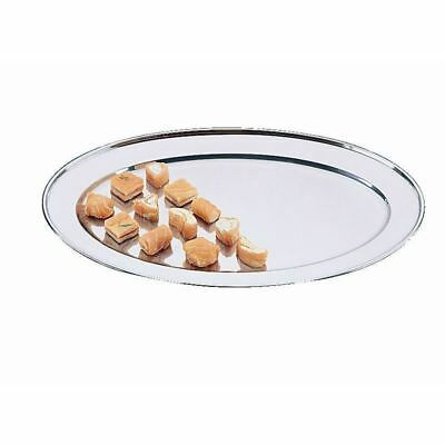 Olympia Oval Serving Flat Stainless Steel Tray Platter Kitchen Tableware
